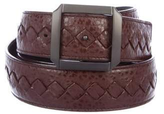 Bottega Veneta Intrecciato Leather Belt brown Intrecciato Leather Belt