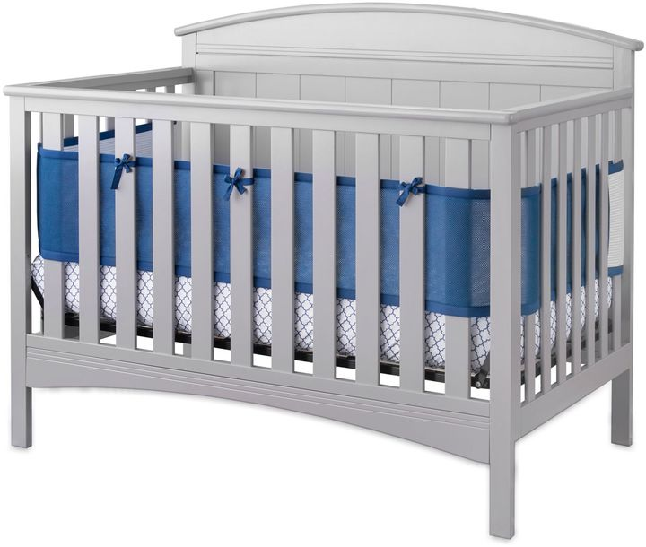 BreathableBabyBreathableBaby® Cable Weave 4-Piece Crib Set in Navy