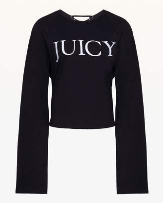 3539d8424c0a0 ... Juicy Couture Lace Up Long Sleeve Tee
