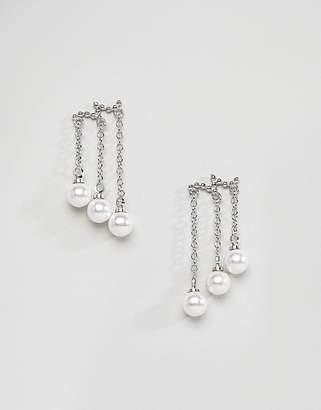 NY:LON Pearl Drop Earrings
