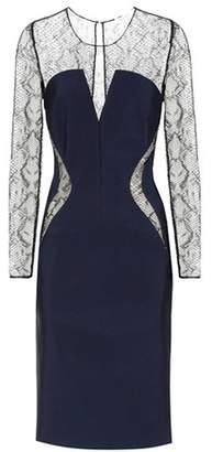 Thierry Mugler Lace-panelled jersey dress