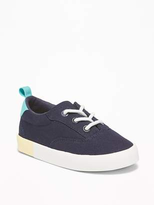 Old Navy Canvas Lace-Up Sneakers for Toddler Boys