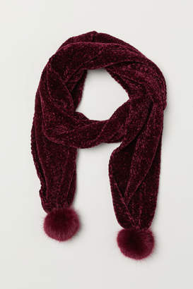 H&M Chenille Scarf - Red