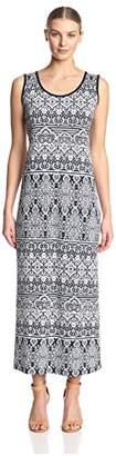 James & Erin Women's Side Slit Maxi Dress
