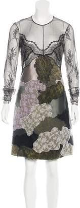 Nina Ricci Chantilly Lace Patchwork Dress w/ Tags