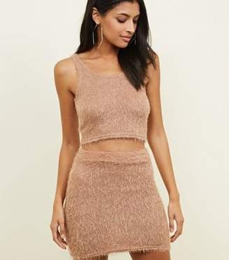 Carpe Diem Camel Eyelash Knit Tube Skirt