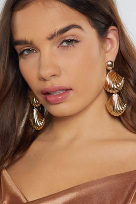 Nasty Gal Shell in Love Drop Earrings