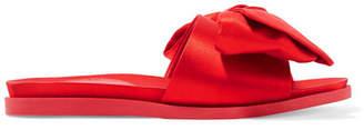 Simone Rocha Bow-embellished Satin Slides - Red