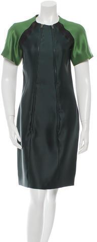 Miu MiuMiu Miu Silk Colorblock Dress