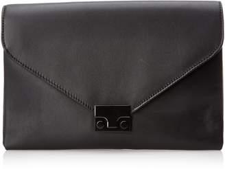 Loeffler Randall Lock Leather Clutch