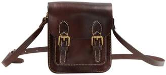 EAZO - Small Genuine Leather Satchel Bag In Dark Brown