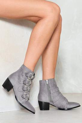 Nasty Gal Can't Pin Ya Down Stud Bootie