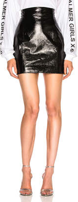 Miss Sixty Palmer Girls x Patent Leather High Waisted Skirt
