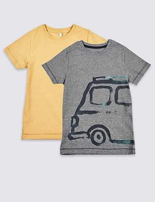 Marks and Spencer 2 Pack Pure Cotton Tops (3 Months - 7 Years)