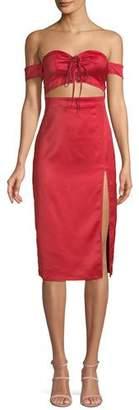 NBD Meghan Corset Bustier Cutout Cocktail Dress