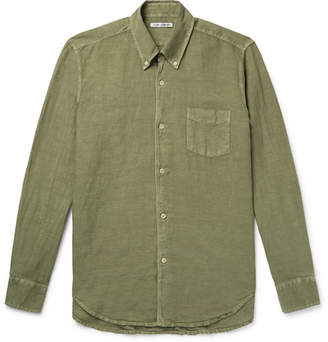 Our Legacy 1950s Button-Down Collar Linen And Cotton-Blend Shirt