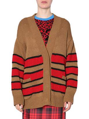 N°21 N.21 Oversized Striped Cardigan