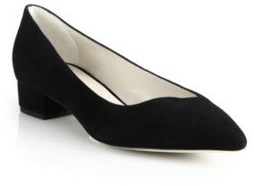 Giorgio Armani Asymmetrical Suede Low Pumps