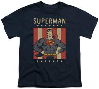 Superman DC Comics Superhero Retro Liberty Big Boys T-Shirt Tee