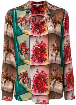 Stella McCartney open collar floral shirt