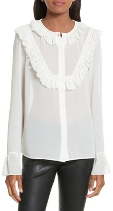 The Kooples Women's Pleated Ruffle Shirt