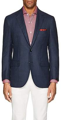 Sartorio Men's PG Checked Wool Twill Two-Button Sportcoat - Blue