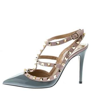 0d891c3641c Valentino Rockstud Grey Patent leather Heels