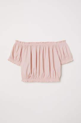 H&M Off-the-shoulder Top - Pink