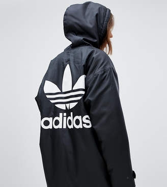 fe477262dacf adidas Hooded Coat With Back Logo In Black