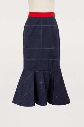 Stella Jean Gonna Con Balza cotton skirt