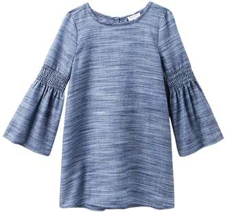 Splendid Bell Sleeve Dress (Toddler Girls)