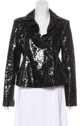 Emporio Armani Embossed Leather Jacket