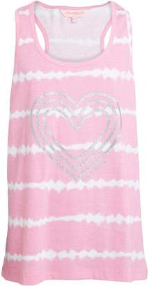 Board Angels Girls Tie Dye Effect Vest Top Pink/White