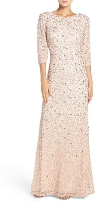 Women's Adrianna Papell Sequin Mesh Gown $328 thestylecure.com