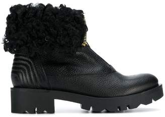 Tosca fur zipped ankle boots