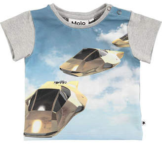 Molo Eddie Hover Cars Printed T-Shirt, Size 6-24 Months