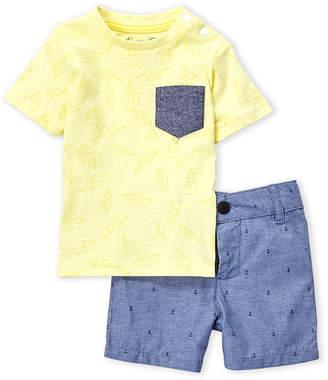 Sovereign Code Infant Boys) Two-Piece Thunder Pocket Tee & Anchor Chambray Shorts Set