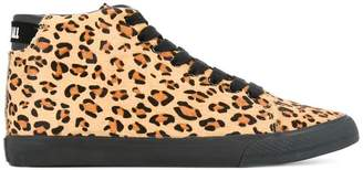 Hysteric Glamour leopard print hi-top sneakers