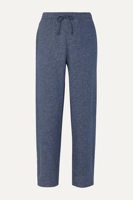 Melange Home Skin - Breena Cotton-jersey Track Pants - Blue