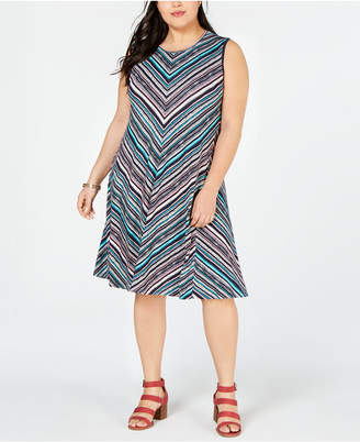 Style&Co. Style & Co Plus Size Printed Swing Dress