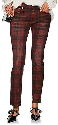 R 13 Women's Kate Plaid Skinny Jeans