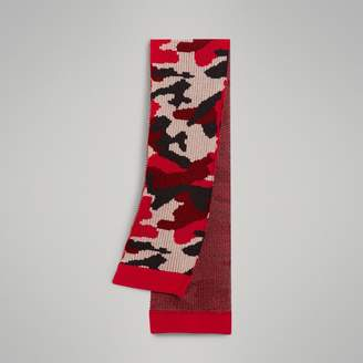 Burberry Camouflage Merino Wool Scarf , Size: OS