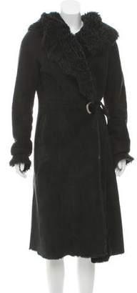 Fur Hooded Shearling Coat