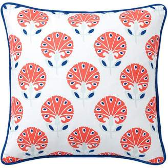 Pottery Barn Teen Daylily Pillow Cover, 16x16, Tangerine Multi