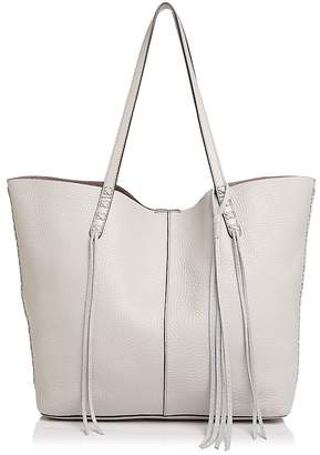 Rebecca Minkoff Unlined Whipstitch Medium Pebbled Leather Tote $295 thestylecure.com
