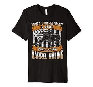 Barrel Racer Barrel Racing Girl Who Loves Rodeo Premium T-Shirt