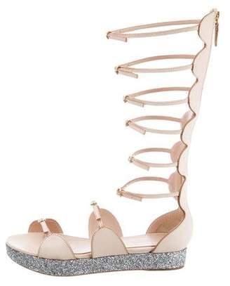 Giambattista Valli Glitter Gladiator Sandals w/ Tags