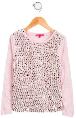 Derhy Kids Girls' Embellished Long Sleeve Top
