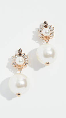 Anton Heunis Crystal Cluster Imitation Pearl Earrings