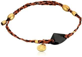 Alex and Ani Precious Threads Jet Galactic Swarovski Crystal Harvest Moon Braid 14k Bracelet